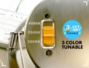 APEX™ Series 3-CCT & 3 Watt options: 3000K, 3400K, 4000K