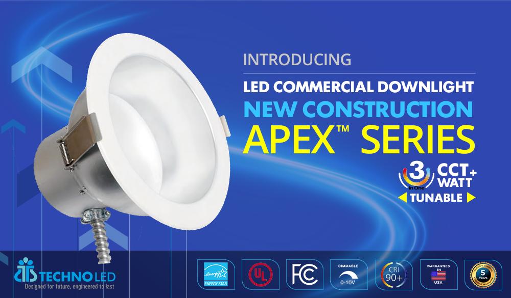 LED Commercial Down Light New Construction / Retrofit APEX™ Series